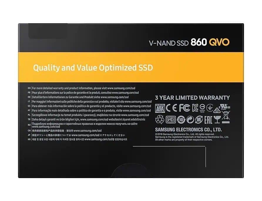"Samsung SSD EVO 860 QVO SATA III 2.5"" 5"