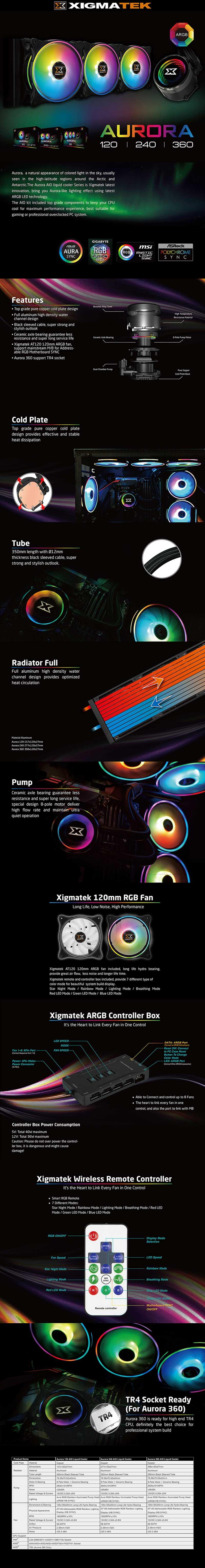 Xigmatek Aurora 240 Cooler EN42807 8
