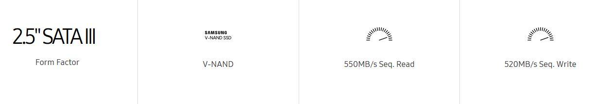 قرص صلب سامسونج إيفو ساتا SSD EVO 860 SATA III 2.5″ 7