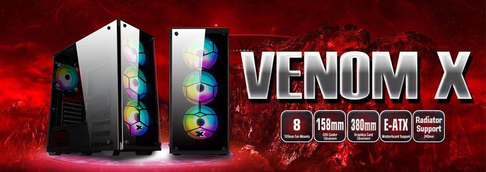 Xigmatek Venom X Arctic RGB Tempered Glass - EN45785 7