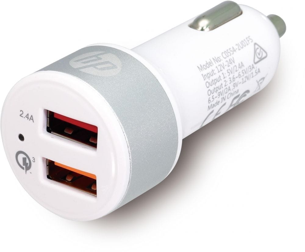 HP USB + Quick Charge™ 3.0 Car Charger 2