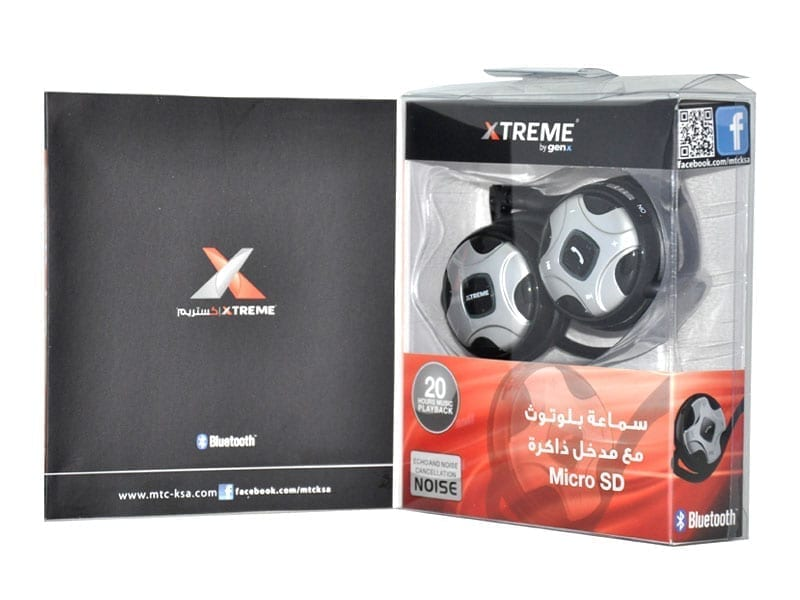 Xtreme XTM-1250 Bluetooth Stereo Headset with Mic & Built-in Micro SD Card Slot 2