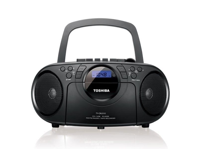 Toshiba Portable CD USB Radio Cassette Recorder TY-CKU310 1