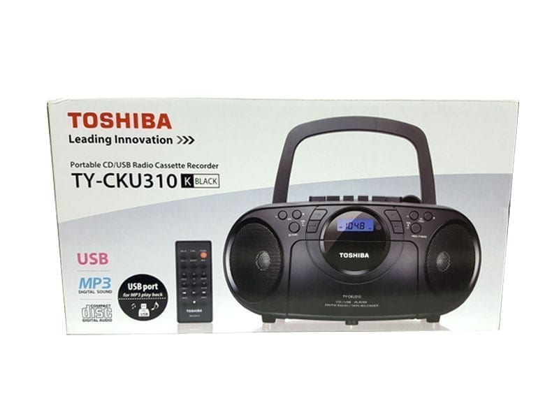 Toshiba Portable CD USB Radio Cassette Recorder TY-CKU310 3