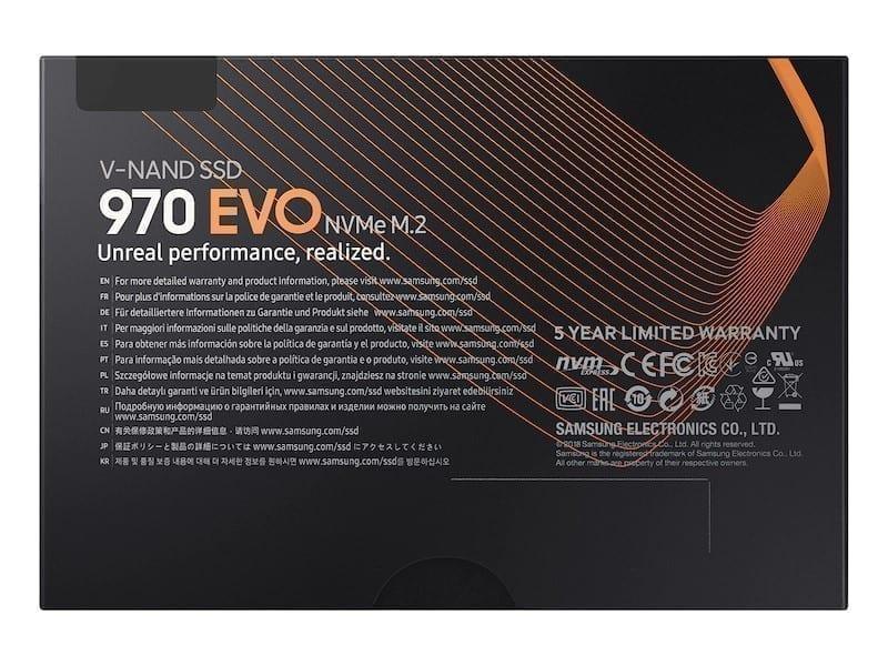 Samsung 970 EVO NVMe M.2 SSD 7