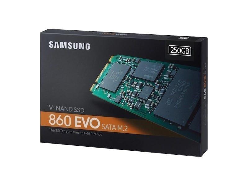 Samsung 860 EVO SATA M.2 SSD 250GB 5