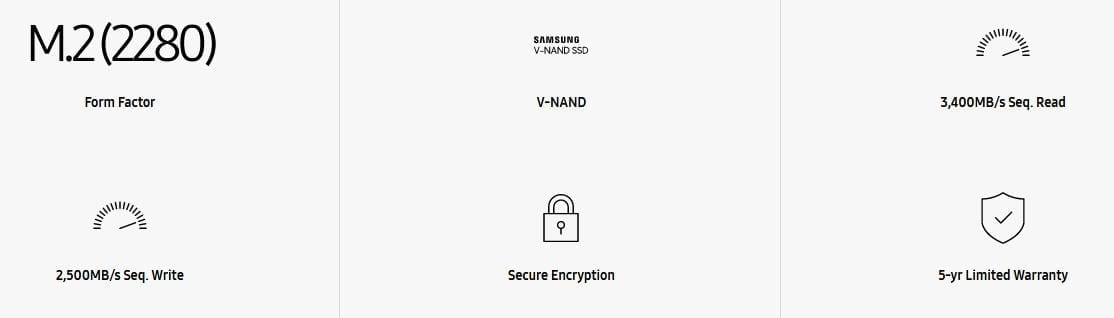 Samsung 970 EVO NVMe M.2 SSD 13
