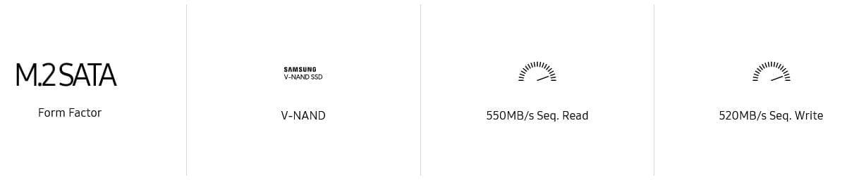 Samsung 860 EVO SATA M.2 SSD 250GB 7