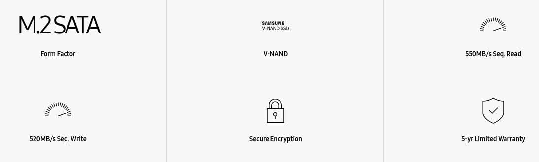 Samsung 860 EVO SATA M.2 SSD 250GB 8