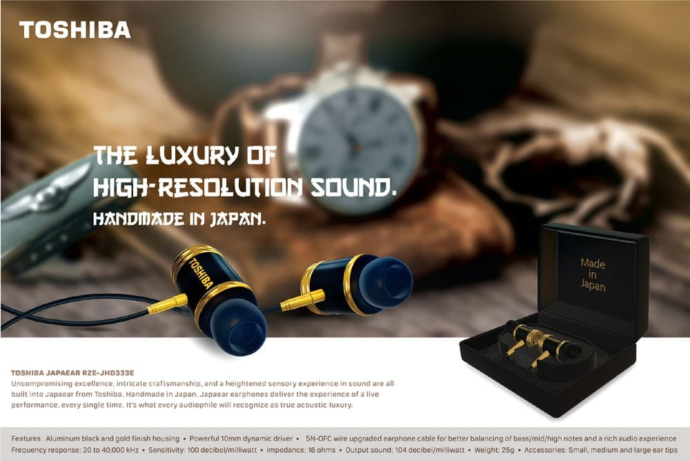 Toshiba JAPAEAR High Res Wired Earphone RZE-JHD333E 12