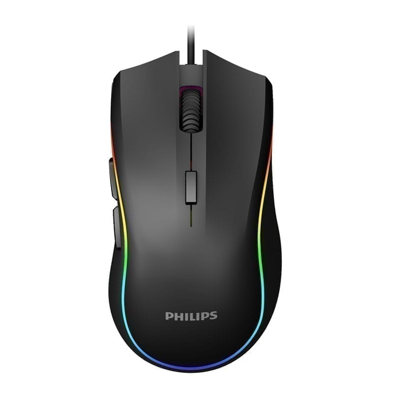 Philips Bundle Package: Momentum Wired Mechanical Gaming Keyboard Full Size SPK8601B + Philips Professional RGB Gaming Mouse SPK9403B 13