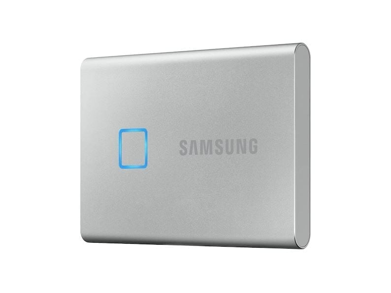 Samsung Portable External SSD T7 TOUCH USB 3.2, Silver and Black 3
