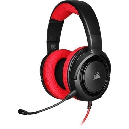 Corsair HS35 Stereo Gaming Headset — Red - CA-9011198-NA 1
