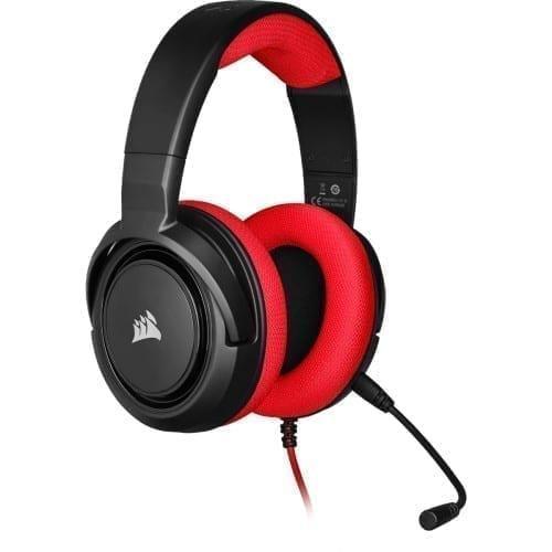 Corsair HS35 Stereo Gaming Headset — Red - CA-9011198-NA 2