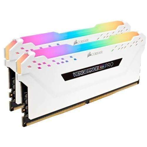 Corsair VENGEANCE® RGB PRO 32GB (2 x 16GB) DDR4 DRAM 3200MHz C16 Memory Kit — White - CMW32GX4M2C3200C16W 2
