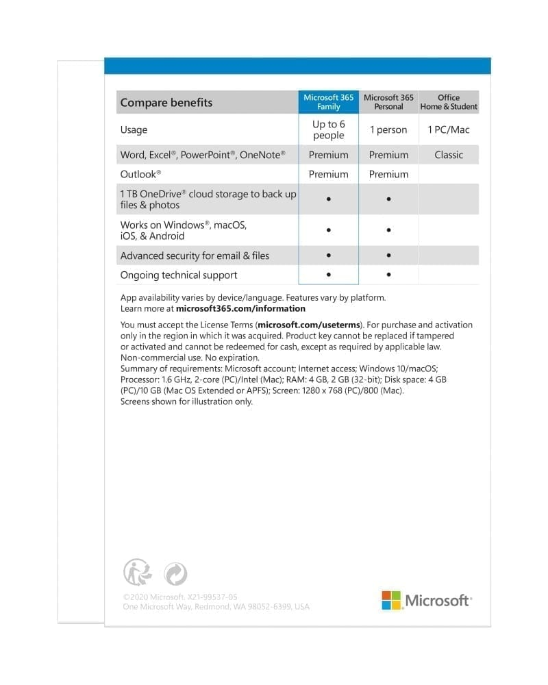 Microsoft 365 Family ِAll Languages Subscription 1YR - Product Key (Delivery by Email) - 6GQ-00085 4