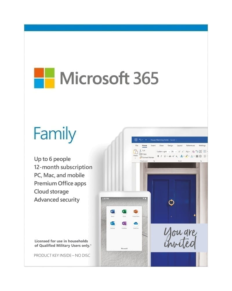 Microsoft 365 Family ِAll Languages Subscription 1YR - Product Key (Delivery by Email) - 6GQ-00085 3