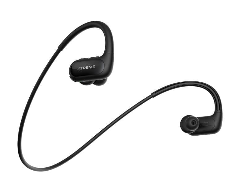 Xtreme Sporty Neckback Bluetooth Headset Black and Gray - XTM-BEP-SPO-B/G 2