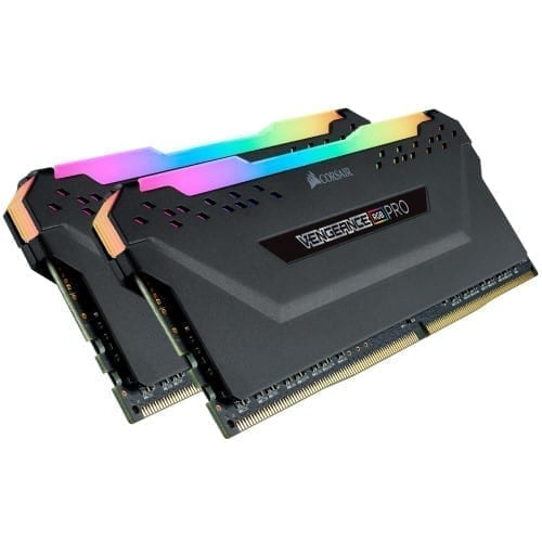 Corsair VENGEANCE® RGB PRO 32GB (2 x 16GB) DDR4 DRAM 3200MHz C16 Memory Kit — Black - CMW32GX4M2E3200C16 1