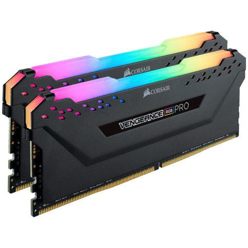 Corsair VENGEANCE RGB PRO 16GB (2 x 8GB) DDR4 DRAM 3600MHz C18 Memory Kit — Black - CMW16GX4M2D3600C18 2