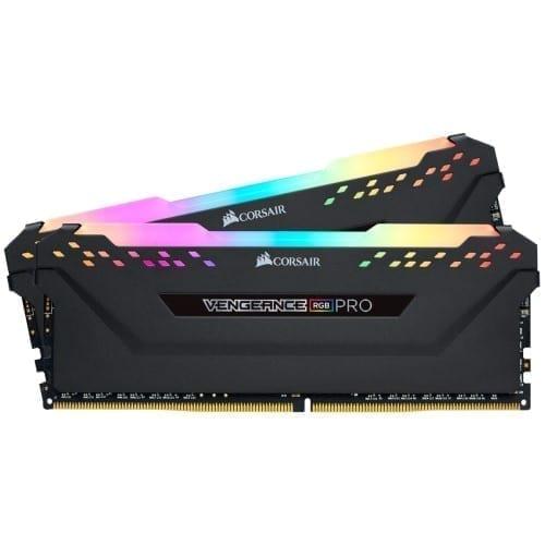 Corsair VENGEANCE® RGB PRO 32GB (2 x 16GB) DDR4 DRAM 3200MHz C16 Memory Kit — Black - CMW32GX4M2E3200C16 3