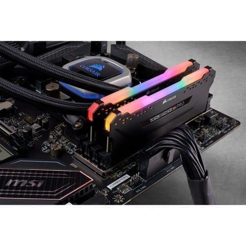 Corsair VENGEANCE® RGB PRO 32GB (2 x 16GB) DDR4 DRAM 3200MHz C16 Memory Kit — Black - CMW32GX4M2E3200C16 4