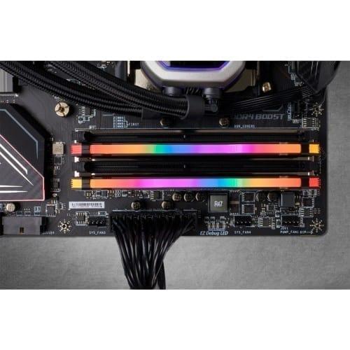 Corsair VENGEANCE® RGB PRO 32GB (2 x 16GB) DDR4 DRAM 3200MHz C16 Memory Kit — Black - CMW32GX4M2E3200C16 5