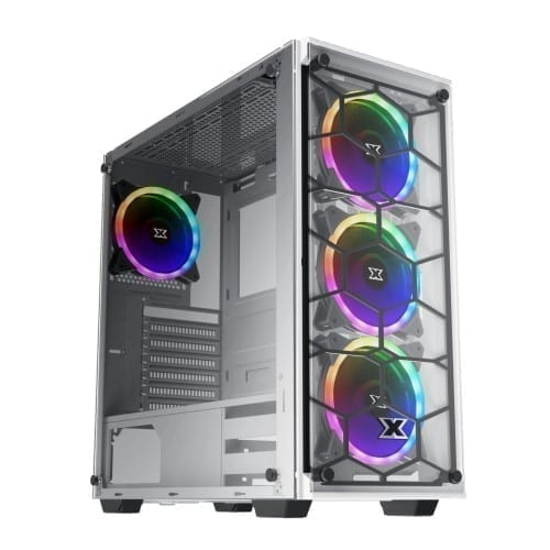 Xigmatek Venom X Arctic RGB Tempered Glass - EN45785 1