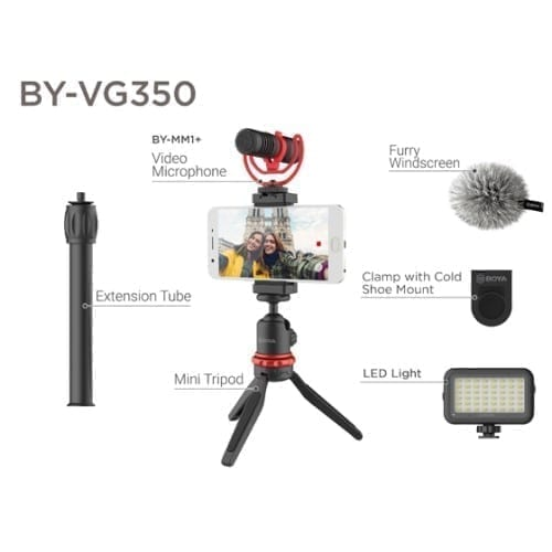 حزمة تصوير كاملة Boya BY-VG350 لتصوير الفلوقات للهواتف الذكية 2
