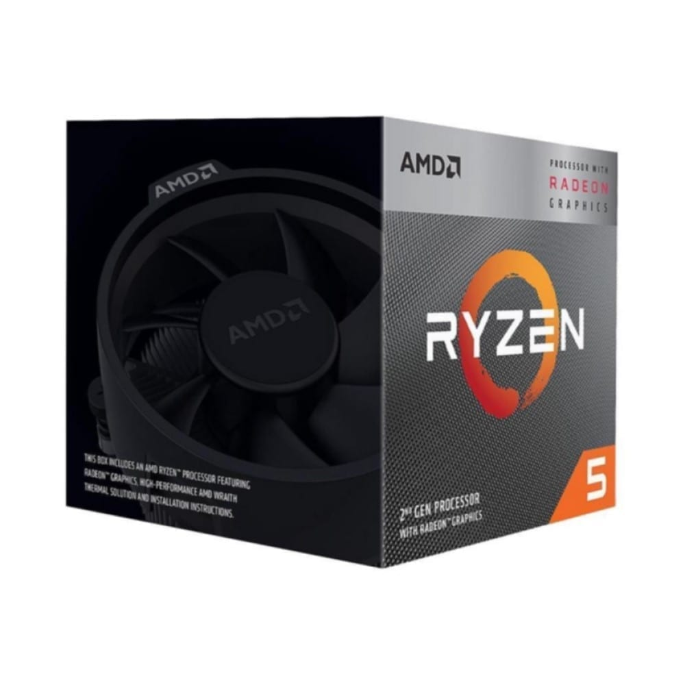 AMD RYZEN 5 3400G 4-Core, 8-Thread Unlocked, 3.7 GHz (4.2 GHz Max Boost) Desktop Processor 2