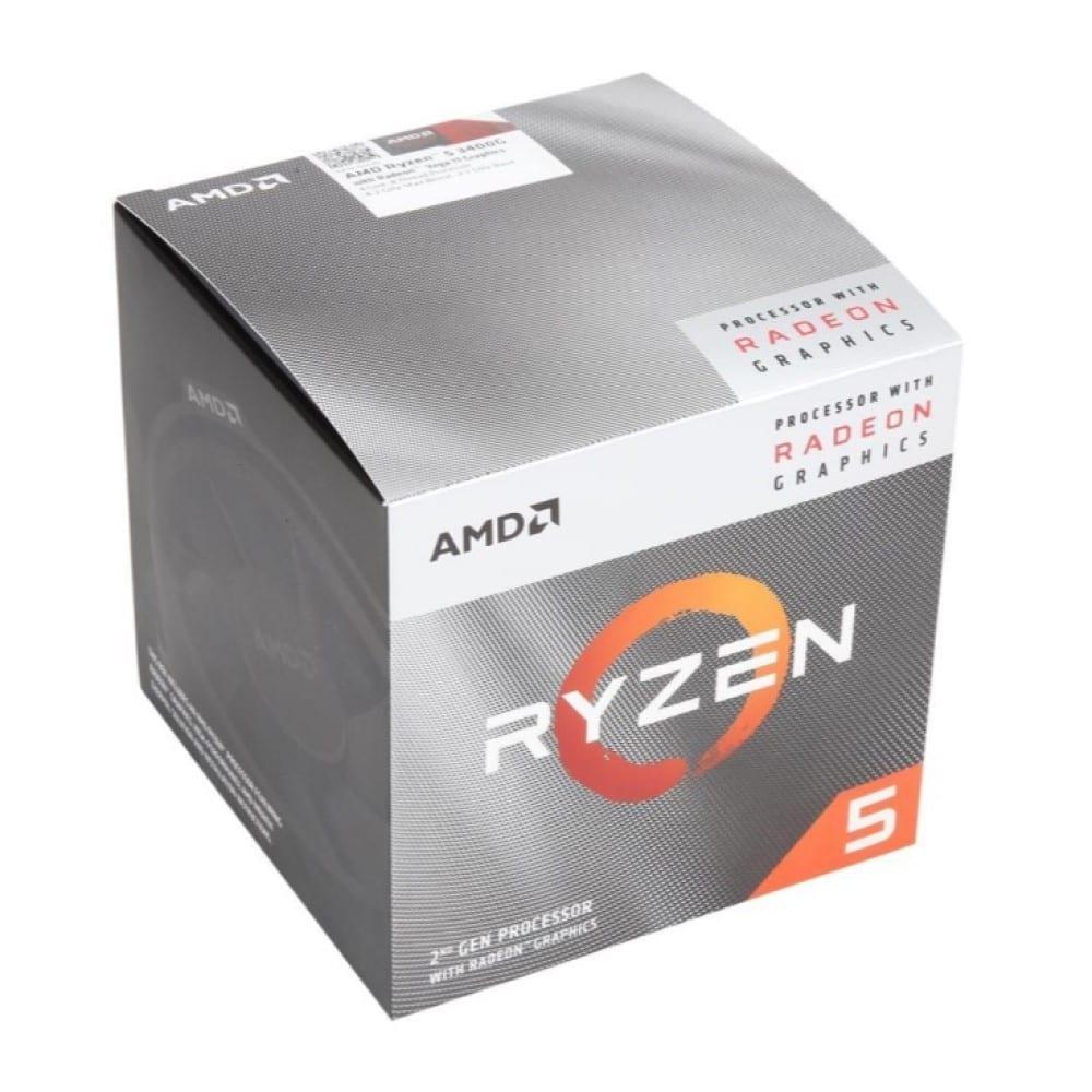 AMD RYZEN 5 3400G 4-Core, 8-Thread Unlocked, 3.7 GHz (4.2 GHz Max Boost) Desktop Processor 5
