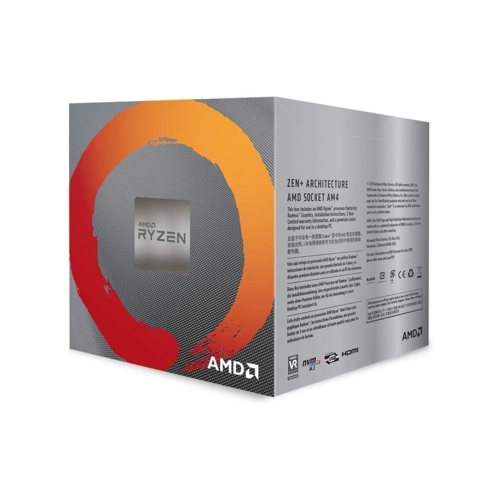 AMD RYZEN 5 3400G 4-Core, 8-Thread Unlocked, 3.7 GHz (4.2 GHz Max Boost) Desktop Processor 3