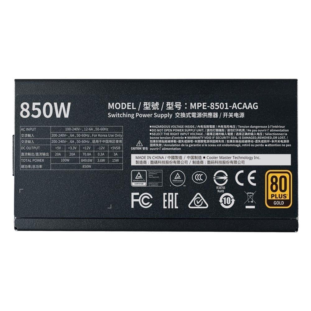 Cooler Master MWE Gold 850 W - V2 Full Modular Power Supply 9