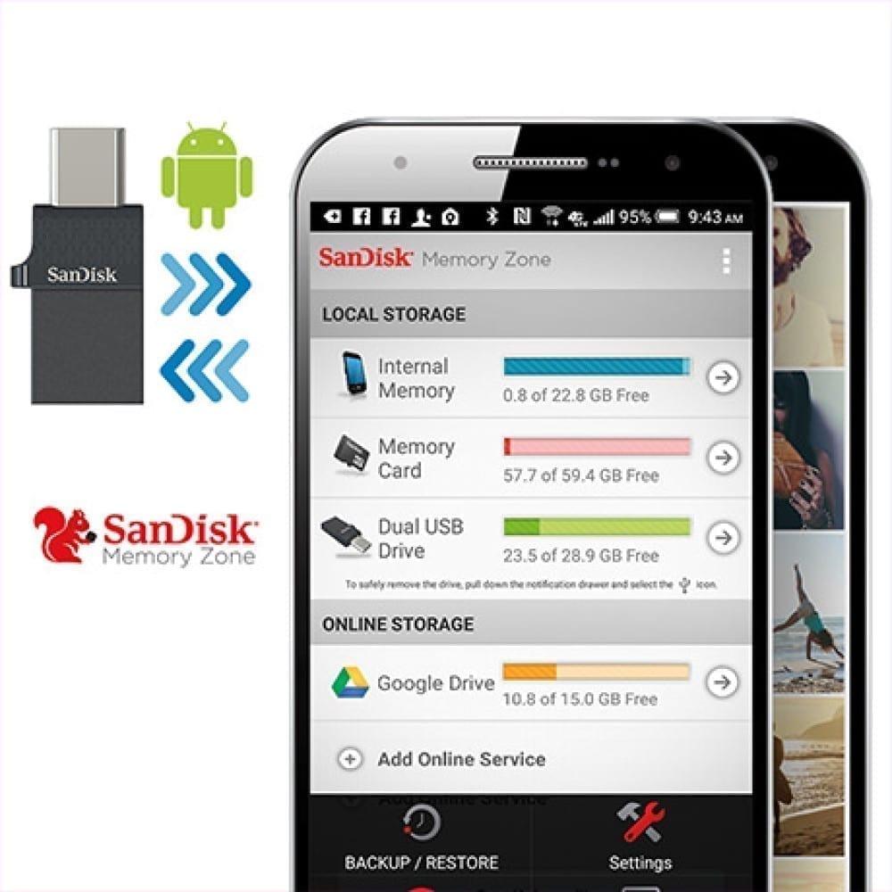 SanDisk Ultra Dual Port USB-C/USB OTG Flash Drive - Black 6