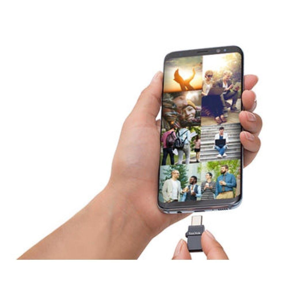 SanDisk Ultra Dual Port USB-C/USB OTG Flash Drive - Black 4