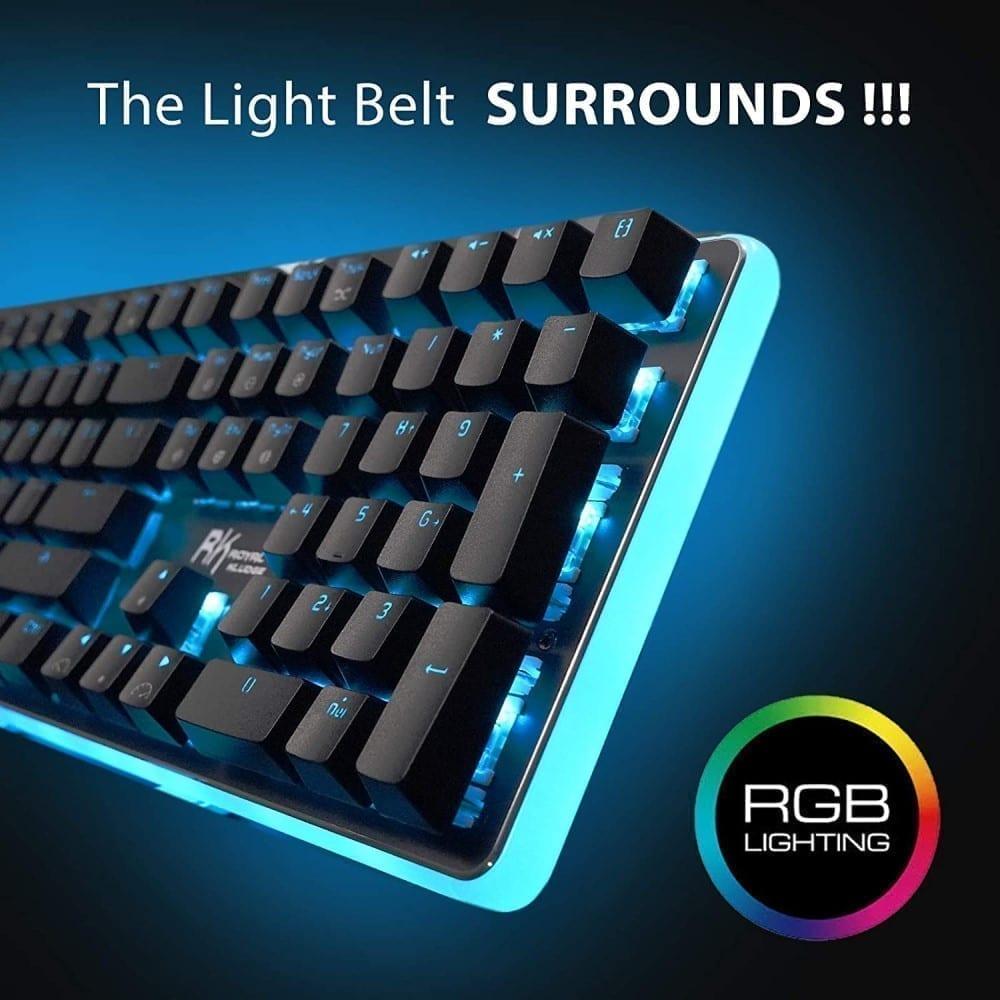 ROYAL KLUDGE RK RK918 Wired Mechanical Gaming Keyboard RGB Blue Switch Black 2