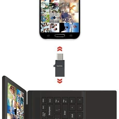 SanDisk Ultra Dual Port USB-C/USB OTG Flash Drive - Black 7