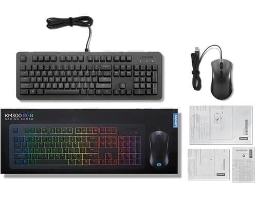 Lenovo Legion KM300 RGB Gaming Combo Keyboard and Mouse - US English 4