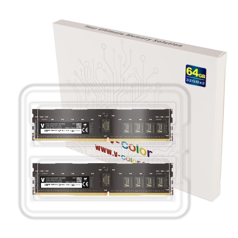 V-Color 64GB (2x32GB) DDR4 2933MHz Ram for Apple Mac Pro 2019 - (VHA21ASDRAG8T-BG29RD) 4