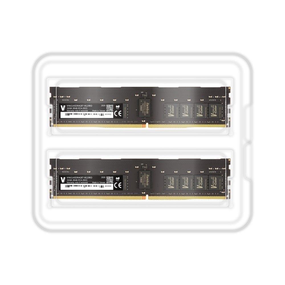 V-Color 64GB (2x32GB) DDR4 2933MHz Ram for Apple Mac Pro 2019 - (VHA21ASDRAG8T-BG29RD) 2