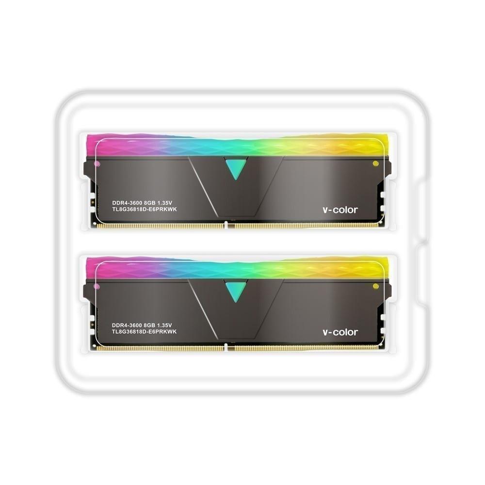 V-Color Prism Pro RGB 16GB(2x8GB) 3600MHz DDR4 RAM - (TL8G36818D-E6PRKWK) 2
