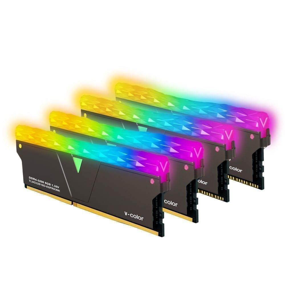 V-Color Prism Pro RGB Kit 16GB(2x8GB) 3200MHz DDR4 RAM with RGB Filler Kit -Jet Black- (SCC-TL8G32816C-E6PRKWK) 2