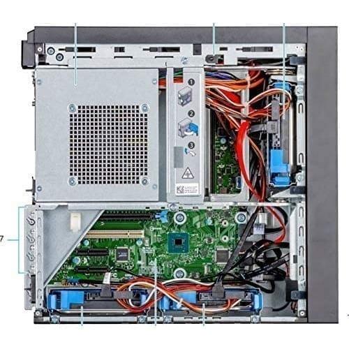 Dell PowerEdge T40 Tower Server Intel Xeon E-2224G 3.5GHz, 8GB DDR4, 1TB HDD - PET40 4