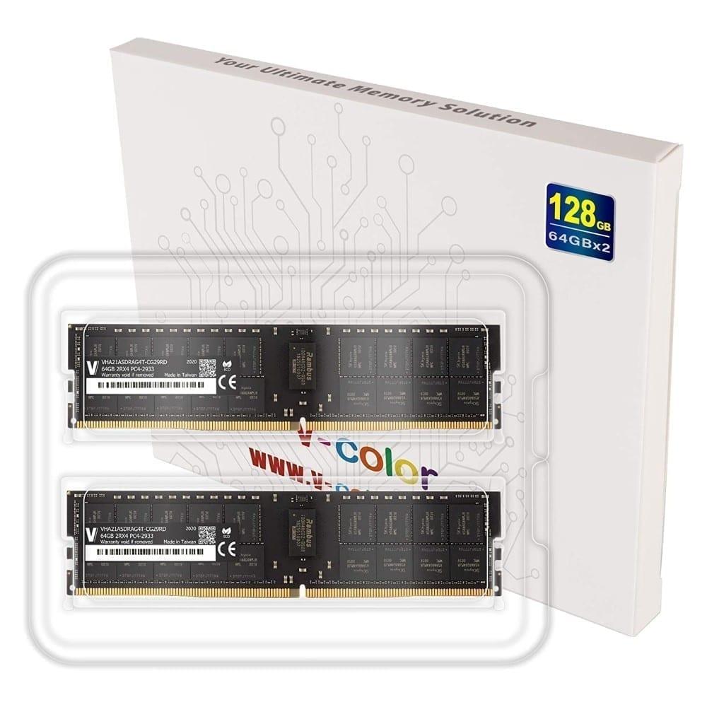 V-Color 128GB (2x64GB) DDR4 2933MHz Ram for Apple Mac Pro 2019 - (VHA21ASDRAG4T-CG29RD) 4