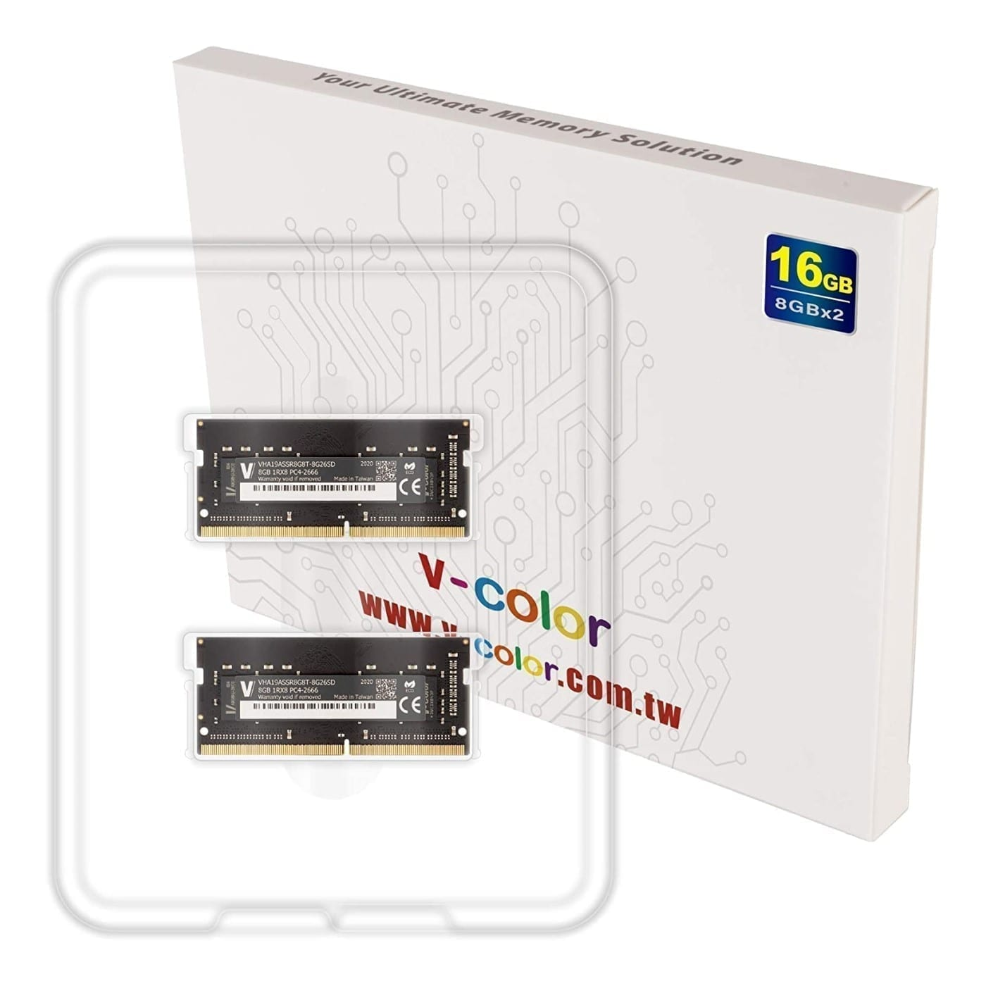 V-Color 16GB(2x8GB) DDR4 2666MHz RAM for Apple iMac 2020 & Late 2019 - (VHA19ASSR8G8T-8G26SD) 2