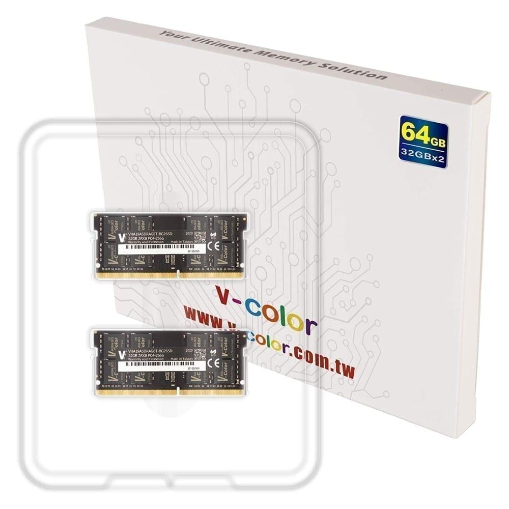 V-Color 64GB(2x32GB) DDR4 2666MHz RAM for Apple iMac 2020 & 2019 - (VHA19ASDRAG8T-BG26SD) 4
