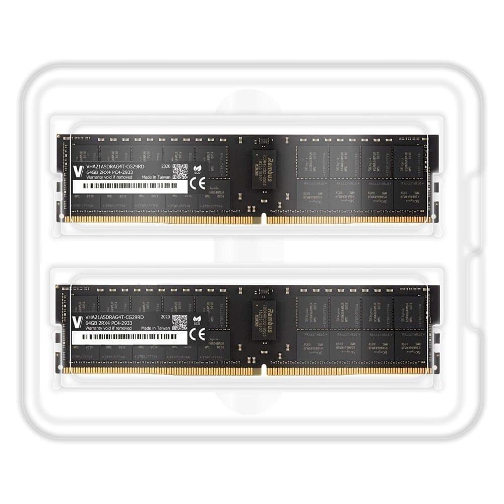 V-Color 128GB (2x64GB) DDR4 2933MHz Ram for Apple Mac Pro 2019 - (VHA21ASDRAG4T-CG29RD) 2