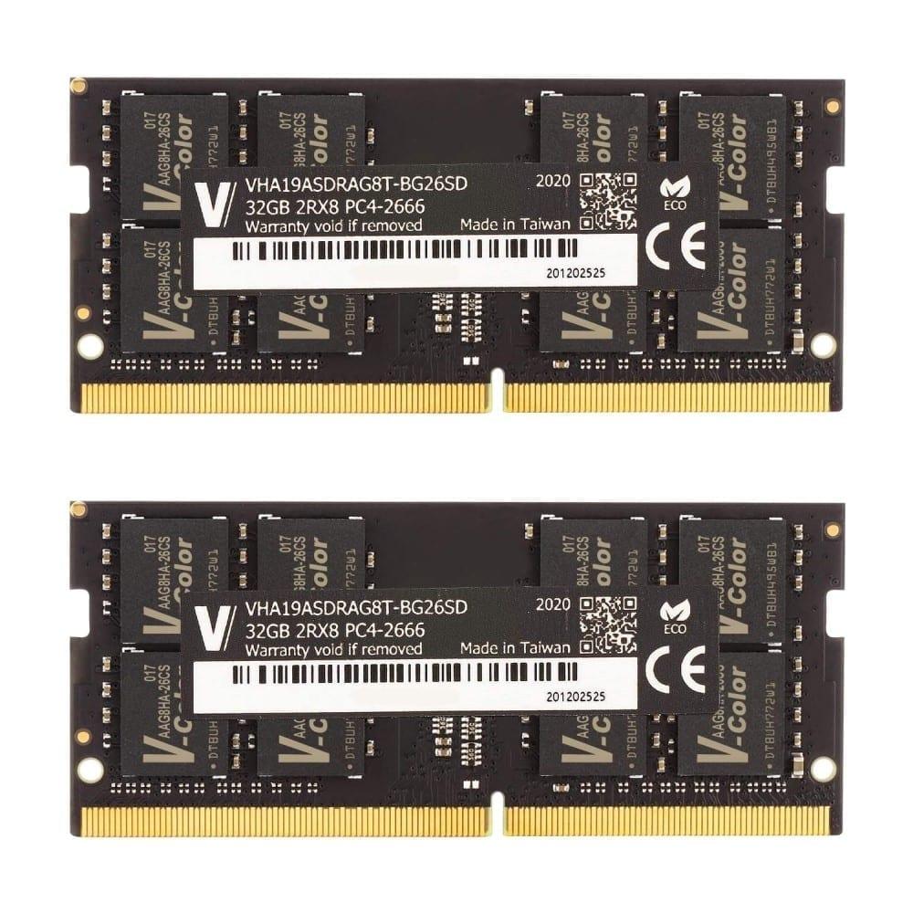 V-Color 64GB(2x32GB) DDR4 2666MHz RAM for Apple iMac 2020 & 2019 - (VHA19ASDRAG8T-BG26SD) 1