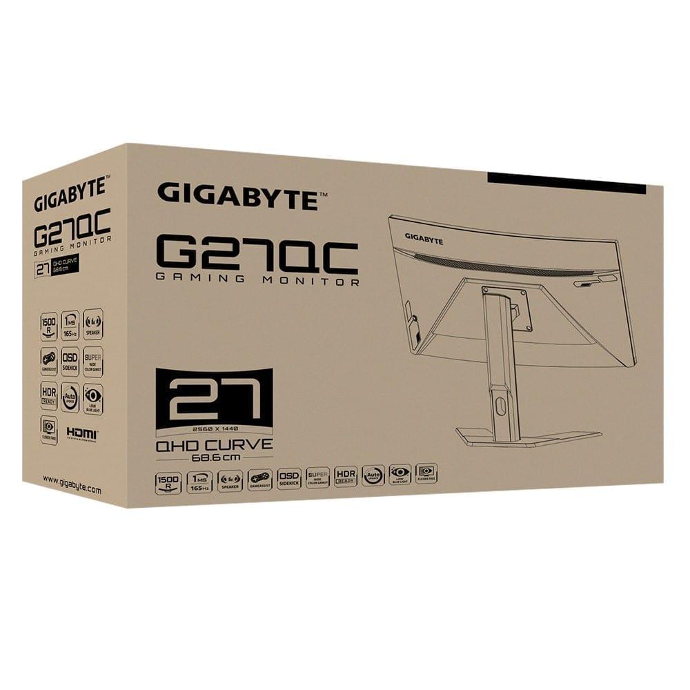 جيجابايت شاشة قيمنق G27QC QHD 165Hz 1ms 8