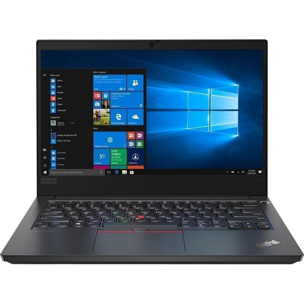 "Lenovo ThinkPad E14 intel core i7-10510U, 8GB DDR4, 1TB HDD, Intel HD Graphics, 14"" FHD, Win10 Pro, Black - 20RA0004AD 1"